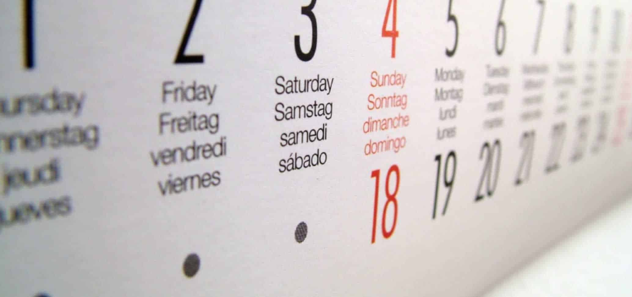Lancement calendrier extension